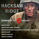 Hacksaw Ridge nominert til 6 Oscar.